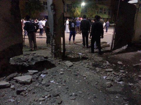 Policejní stanice v Benghází 10.5.2013