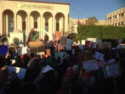 Demonstrace v Tripolisu 10.5.2013