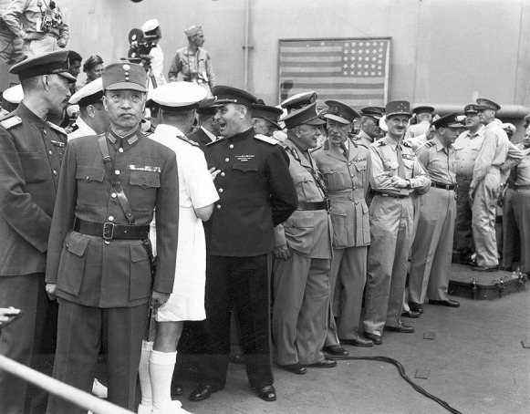 WWII JAPANESE SURRENDER SIGNING