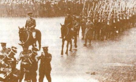 38. batalion Židovské legie pochodující Londýnem, 22.únor 1918