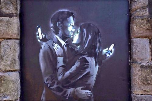 Banksy, Anglie, akrylové barvy na dveřích, 2014