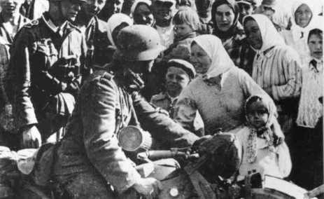 Vítání hitlerovských vojsk na Ukrajině
