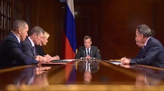 Dmitrij Medveděv, porada s vice-premiéry